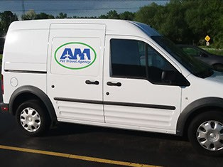 AM Pet Travel Agency vans are heated and air-conditioned for your pet's comfort.